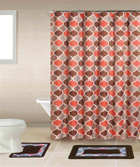 shower curtain and rug sets home dynamix bath boutique shower curtain and bath rug set bq03 trellis multi color shower