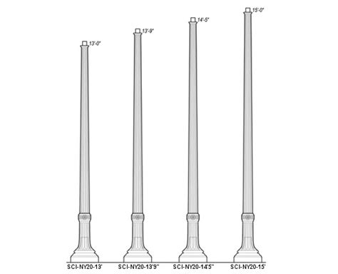 wrought iron pole ls sci ny20 poles cast iron steel ductile iron steel