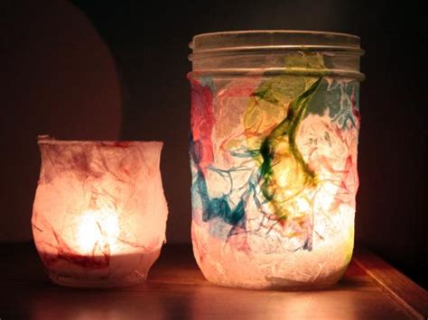 cool tissue paper crafts tissue paper lights by kiwi crate get steam stem