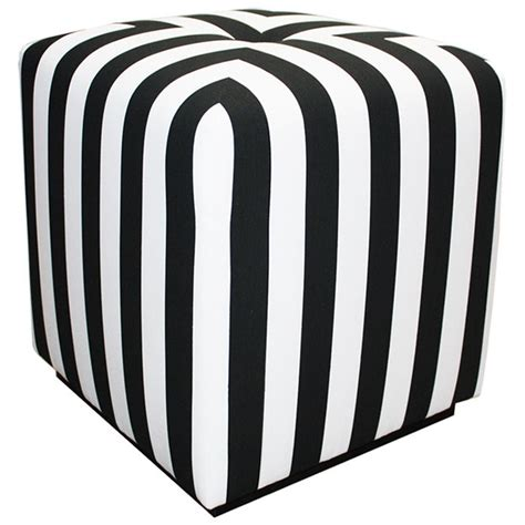 black and white ottoman black and white stripe ottoman black and white