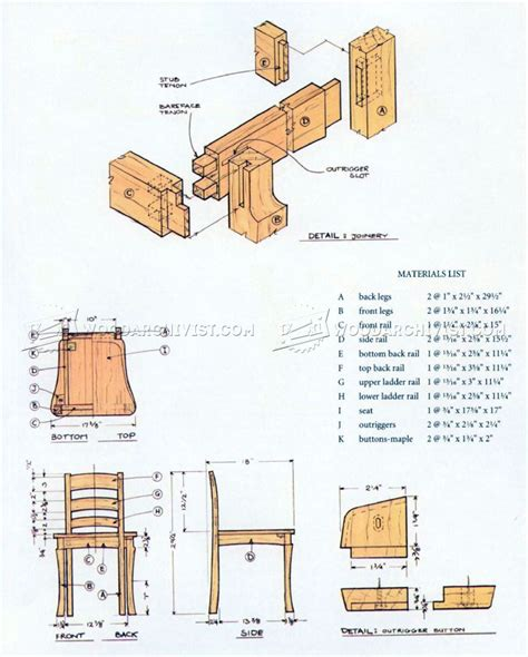 dining table and chairs plans woodarchivist