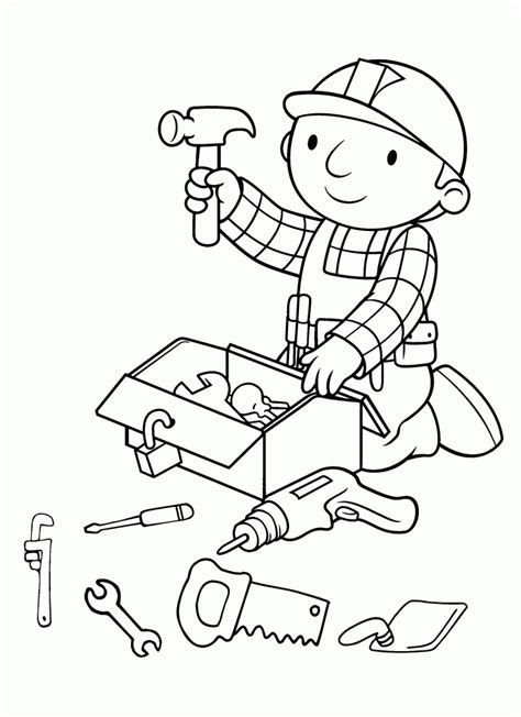 coloring page generator free free printable bob the builder coloring pages for kids