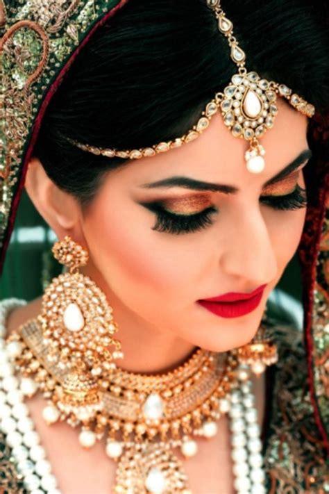 beautiful bridal makeup pakistani bridals red dresses with makeup ideas weddings eve