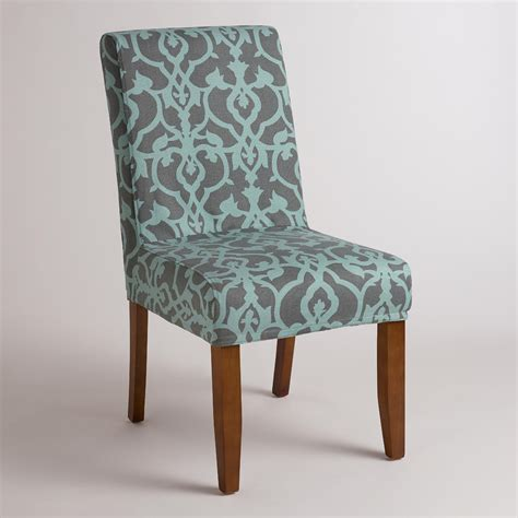 blue chair slipcover timbercove blue anna chair slipcover world market