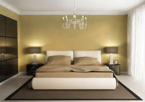 white ceiling yellow wall for contracted bedroom
