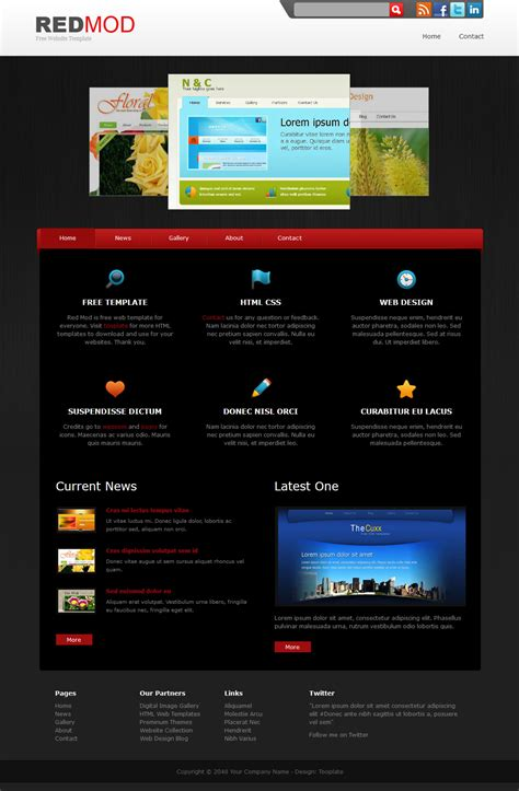 Red Mod Free Html Css Templates Html Css Templates