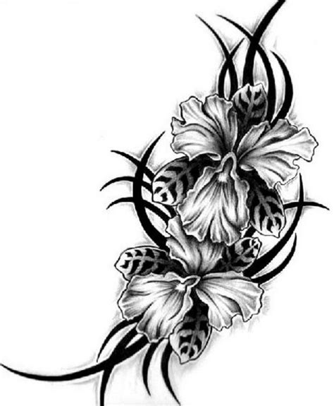 hawaiian flower tattoos for men hawaiian flowers design