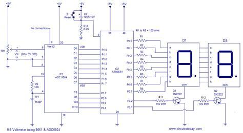 digital voltmeter   microcontroller ats