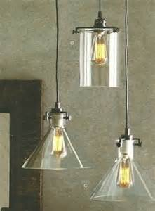 Clear Glass Pendant Lights For Kitchen Roost Funnel And Cylinder Pendants Modern Pendant
