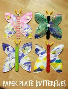 Butterfly Paper Plate Craft - paper plate butterflies arts and crafts