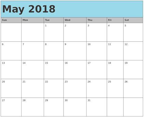 Kalender 2018 Med Helligdager Mai 2018 Kalender Norge Ferier Utskriftsmall Excel Pdf