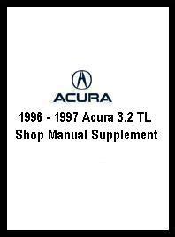 1996 1997 acura 3 2 tl shop manual supplement