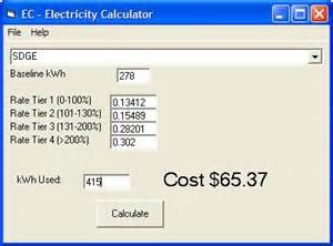 electricity cost calculator