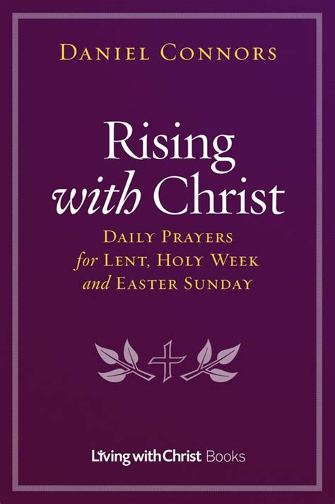 lent and holy week with books rising with