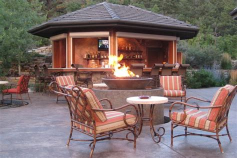 outdoor living ideas outdoor patio with fire pit landscaping gardening ideas