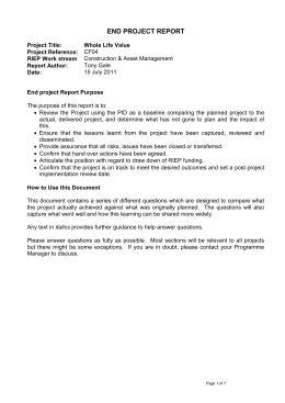 Pilot Study Report Template pilot template