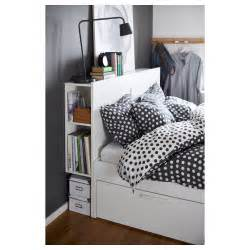 brimnes bett brimnes bed frame w storage and headboard white lur 246 y