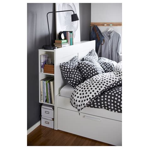 Brimnes Bed Frame With Storage Black Brimnes Bed Frame W Storage And Headboard White Lur 246 Y Standard Ikea
