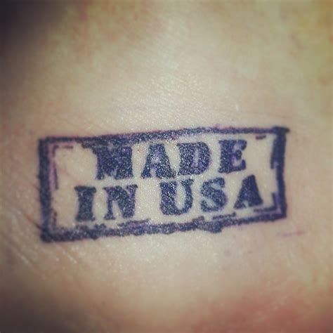 made in america tattoo made in usa on ankle tattooshunt