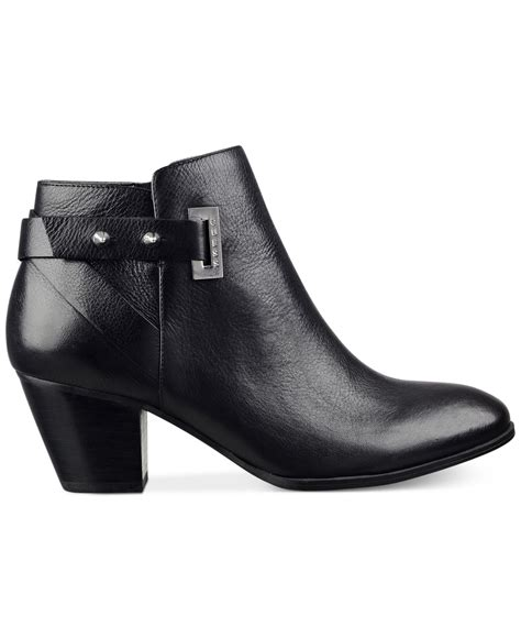 Guess Sprint Black Leather lyst guess s verity ankle booties in black