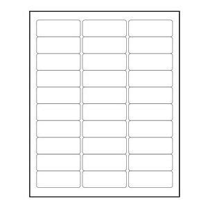 3000 Blank 1 Quot X 2 5 8 Quot Return Address Labels Inkjet Laser Template 5160 Ebay Avery 1 X 2 5 8 Label Template
