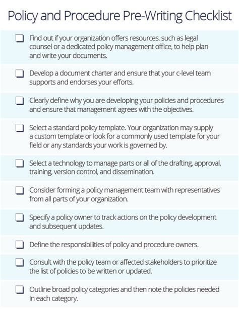 How To Write Policies And Procedures Smartsheet How To Write A Policy Document Template