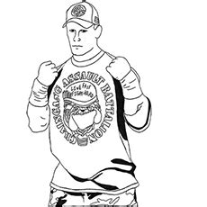 printable coloring pages john cena wwe coloring pages bestofcoloring com