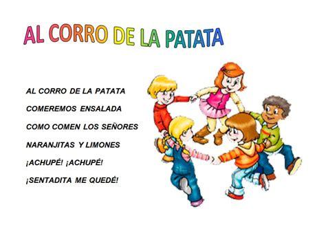 el patio de mi casa letra canci 243 n al corro de la patata canciones infantiles