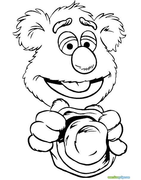 Fozzie Coloring Pages the muppets coloring pages 2 disney coloring book