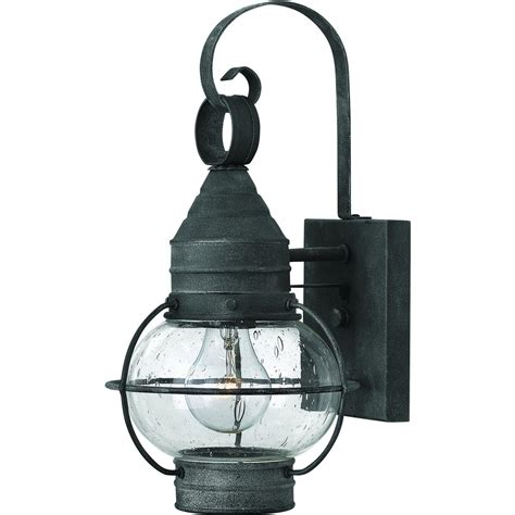 Cape Cod Light Fixtures Hinkley Lighting Cape Cod One Light 14 Inch Led Outdoor Wall Light Aged Zinc 2206dz Led