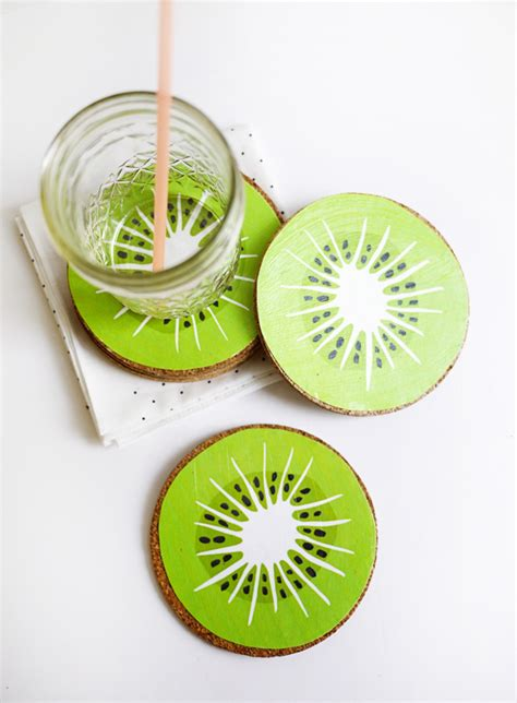 Drink Coaster printable kiwi drink coasters