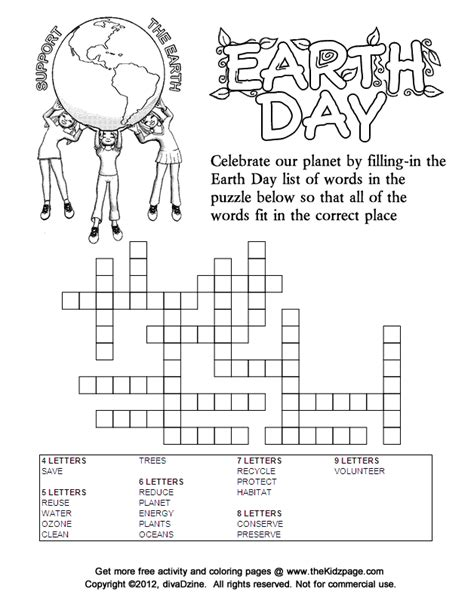 pages and puzzles free earthday wordsearch coloring pages