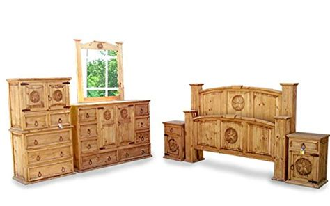 Queen Size Mansion Rustic Bedroom Set Free Delivery 6 Pcs Bedroom Furniture Free Delivery
