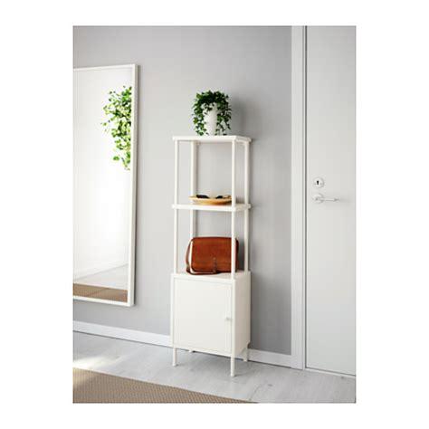 Ikea Bathroom Storage Unit Dynan Shelving Unit With Cabinet White 40x27x132 Cm Ikea
