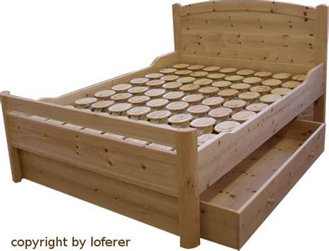 bett zirbenholz betten loferer gesundes wohnen und schlafen