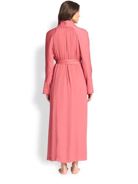 Donna Robe lyst donna karan silk crepe robe in pink