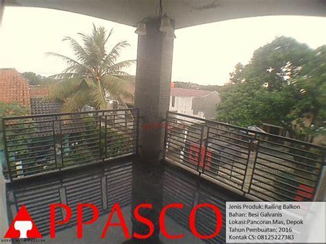 Railing Balkon Minimalis Pancoran Mas Depok   Jual Kanopi