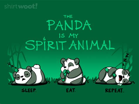 Tees My Is Incomplete the panda is my spirit animal