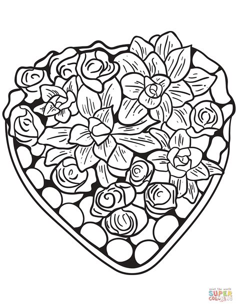 Free Printable Hearts And Flowers Coloring Pages