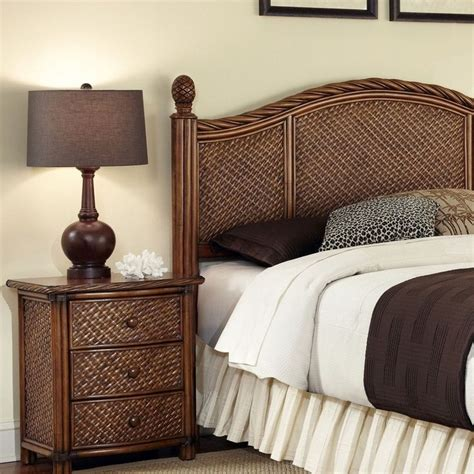 Rattan King Bedroom Set marco island king california king headboard stand set