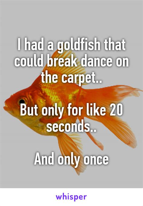 Karpet Breakdance i had a goldfish that could on the carpet