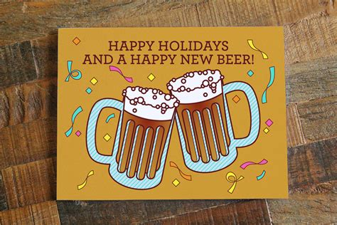 new year of the puns new year s card happy new beers pun