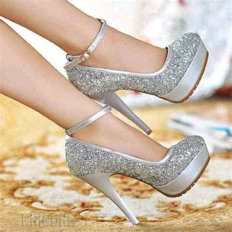 High Heel Cwe Pesta Keren jual heels pesta warna silver kode sy dizza supplier fashion