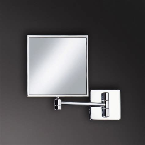 wall mounted bathroom mirrors magnifying hib tori multi position wall mounted magnifying mirror