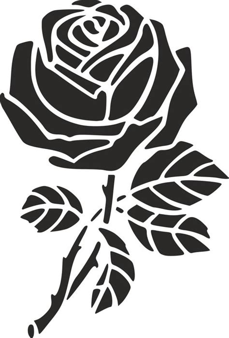 rose stencil dxf file   axisco
