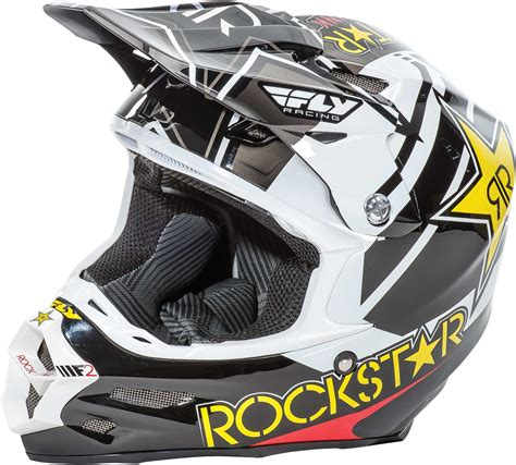 fly motocross helmets fly racing f2 carbon rockstar helmet 2017 mx atv