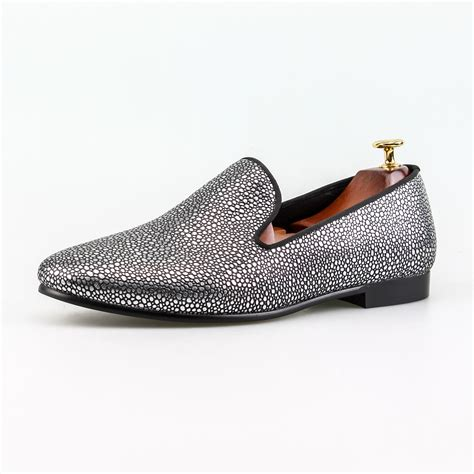 classic clothes and shoes for aliexpress buy slip on dress shoes silver pearl