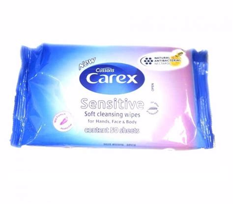 cussons sensitive wipes 50s 144 x cussons carex sensitive soft cleansing wipes for