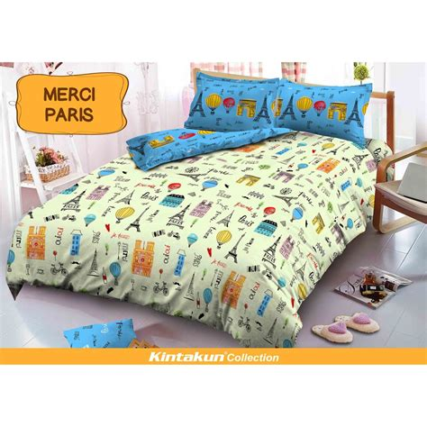 Kintakun Dluxe King Size bed cover set kintakun dluxe king size 180x200cm motif