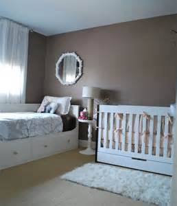 Crib And Toddler Bed In Small Room Real Rooms Tranquil And Serene Nursery